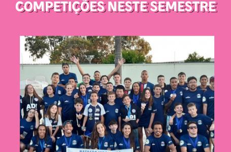 Natação conquista 56 medalhas e se prepara para importantes competições neste semestre