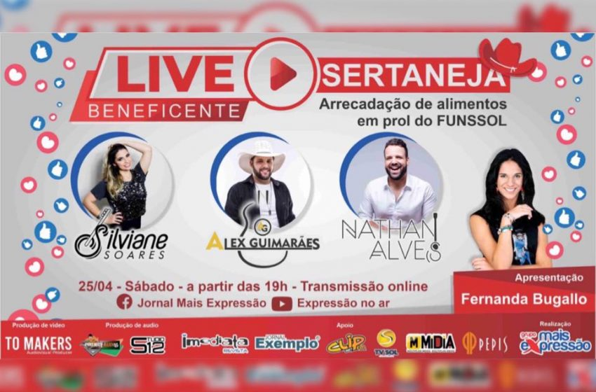 Live Sertaneja Beneficente acontece neste sábado