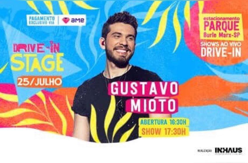 Gustavo Mioto retorna aos palcos de São Paulo em show drive-in