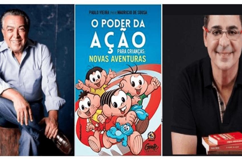 Escritor Paulo Vieira lidera o ranking nacional dos mais vendidos no final de semana e já anuncia as novas aventuras com Mauricio de Souza